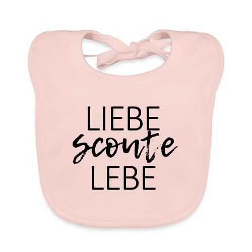 Liebe Scoute Lebe Lettering - Farbe frei wählbar - Baby Bio-Lätzchen