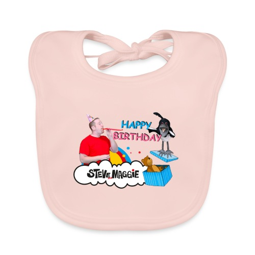 Happy Birthday from Steve and Maggie - Organic Baby Bibs