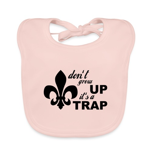 Don't grow up… Typo mit Lilie - Farbe frei wählbar - Baby Bio-Lätzchen
