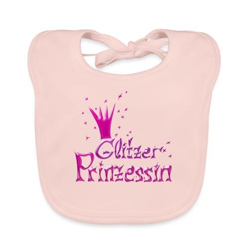 Rosa Glitzer Prinzessin - Baby Bio-Lätzchen