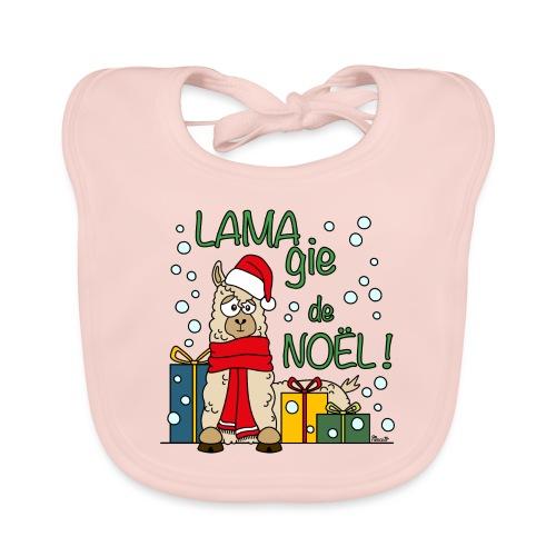 Lama, Magie de Noël, Happy Christmas, Pull moche - Bavoir bio Bébé