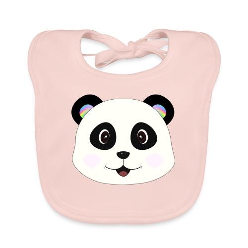 panda rainbow - Babero de algodón orgánico para bebés