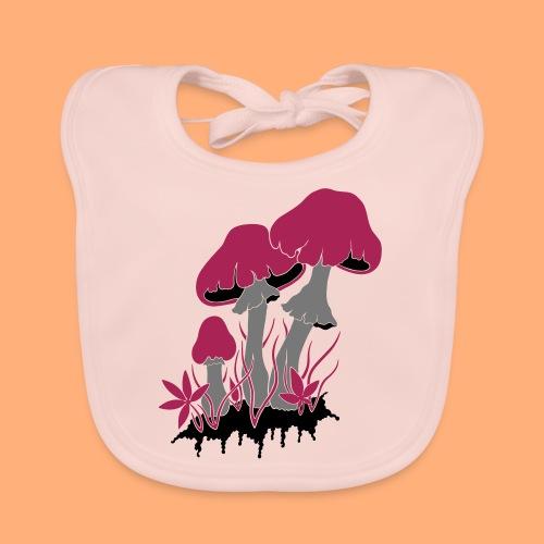 champignons - Bavoir bio Bébé