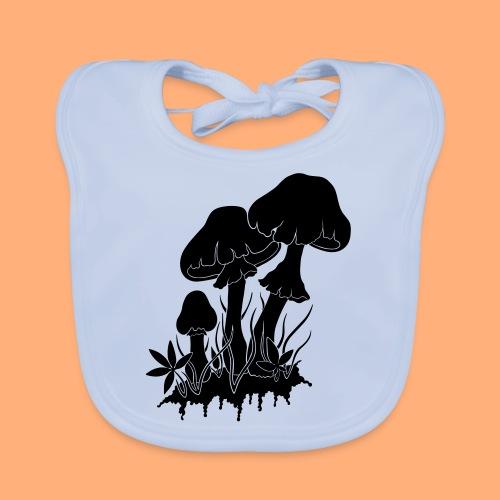 champignons noir et blanc - Bavoir bio Bébé