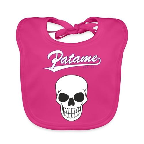 Patame White Purple with Skull - Baby Bio-Lätzchen