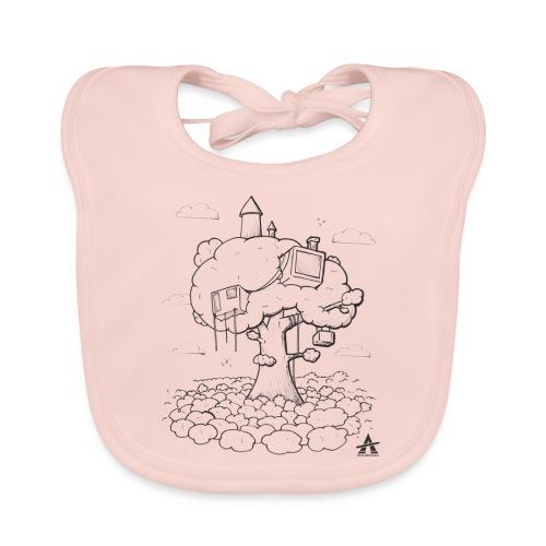 Cabane dans un arbre Sketch Line - Bavoir bio Bébé