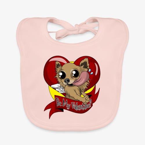 Engla Be my valentine? - Ekologisk babyhaklapp