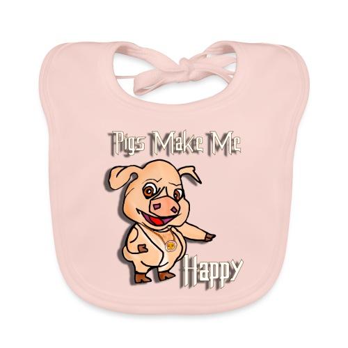 Oh my God pigs maakt mij blij - Bio-slabbetje voor baby's
