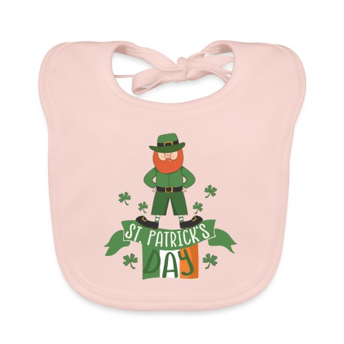 St. Patrick's day feiern mit Glücksbringer - Baby Organic Bib