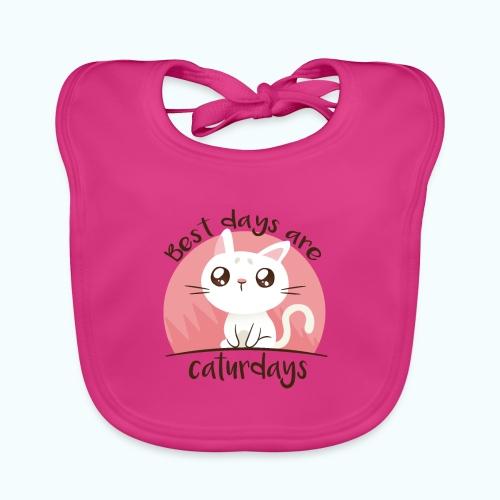 Saturdays - NO - Caturdays - Baby Organic Bib