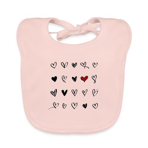valentines hearts - Bavoir bio Bébé