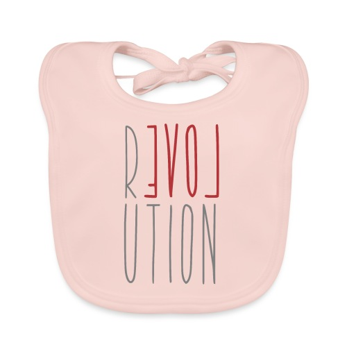 Love Peace Revolution - Love Peace Statement - Baby Organic Bib