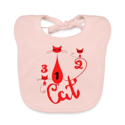 Un deux trois cat, French, funny, cute cat lovers - Bavoir bio Bébé
