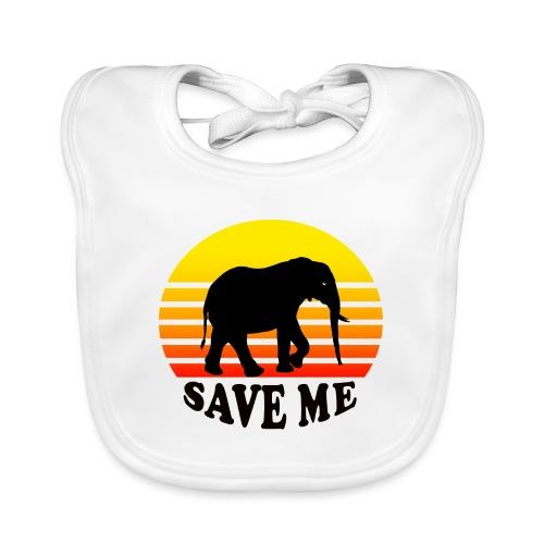 Elefant SAVE ME Schattenriss Sonne - Baby Bio-Lätzchen