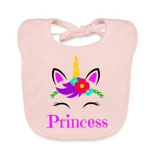 Mutter Tochter Partnerlook Queen Princess Einhorn - Baby Bio-Lätzchen