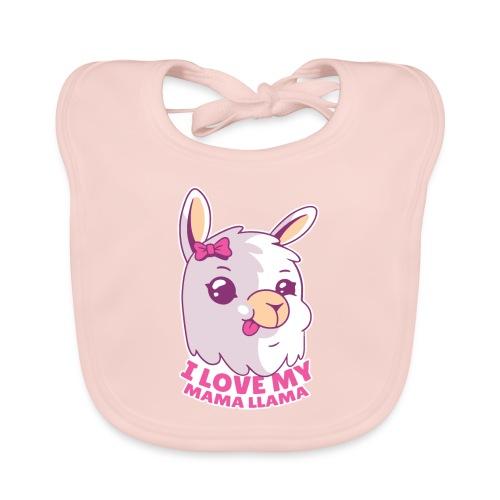 I Love My Mama Llama - Baby Bio-Lätzchen