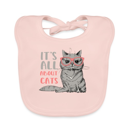 It's All About Cats: Cool Cat - Cat Lover - Baby Organic Bib