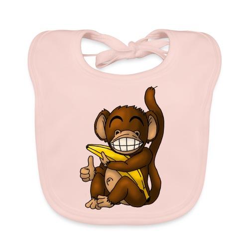 Super Fröhlicher Affe - Baby Bio-Lätzchen