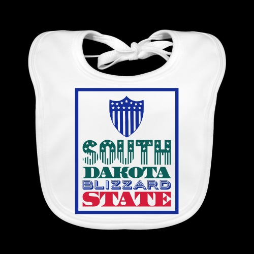 South Dakota blizzard state - Baby Organic Bib