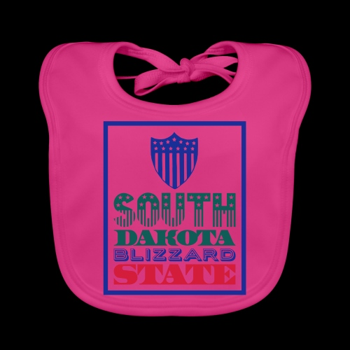 South Dakota blizzard state - Baby Organic Bib