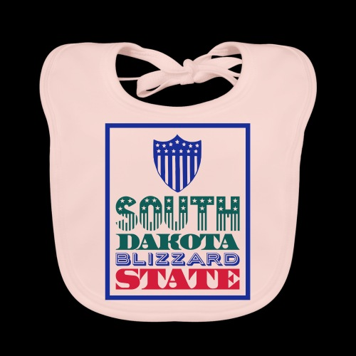 South Dakota blizzard state - Organic Baby Bibs