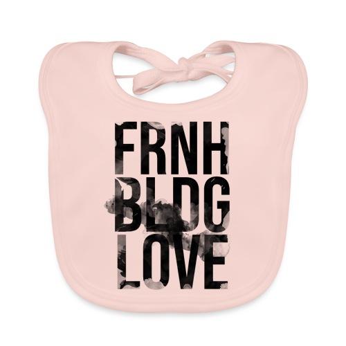 Französische Bulldogge Liebe wasserfarben - Baby Bio-Lätzchen