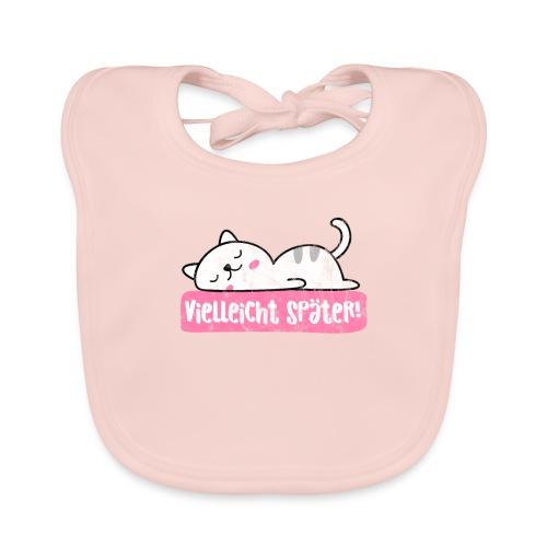 Vielleicht später faule Katze nichtstun geht immer - Baby Bio-Lätzchen