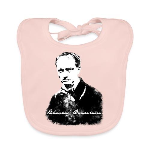 Baudelaire (fond blanc) + signature - Bavoir bio Bébé