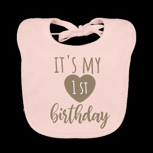 it's my first birthday - Baby Bio-Lätzchen