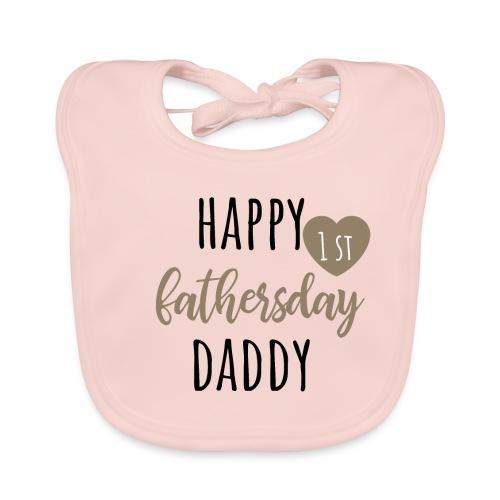 Happy first fathersday - Baby Bio-Lätzchen