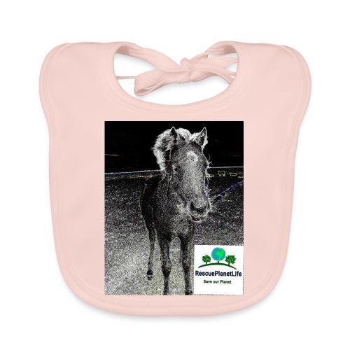RescuePlanetLife Pferd-Design - Baby Bio-Lätzchen