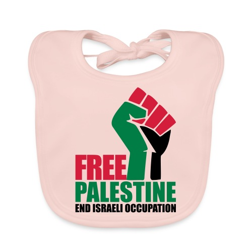 Free Palestine End Israeli Occupation - Baby Organic Bib