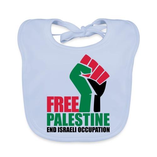 Free Palestine End Israeli Occupation - Baby Organic Bib