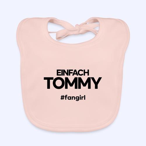 Einfach Tommy / #fangirl / Black Font - Baby Bio-Lätzchen