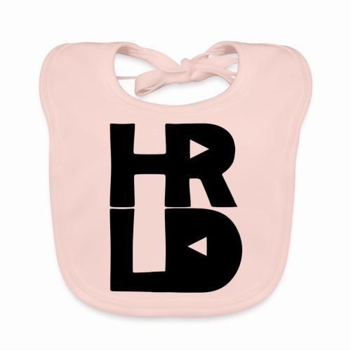 HRLD Black Logo - Vauvan luomuruokalappu