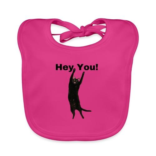 Hey you cat - Organic Baby Bibs