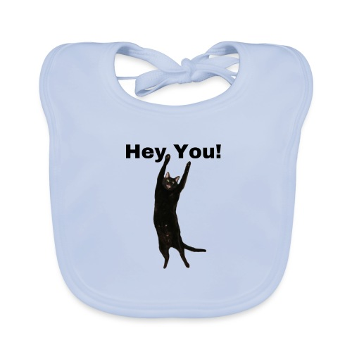 Hey you cat - Organic Baby Bibs