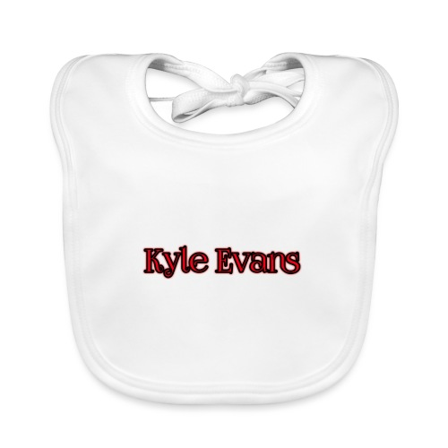 KYLE EVANS TEXT T-SHIRT - Baby Organic Bib