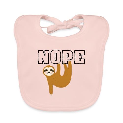 Nope Funny Sloth Fan - Baby Bio-Lätzchen