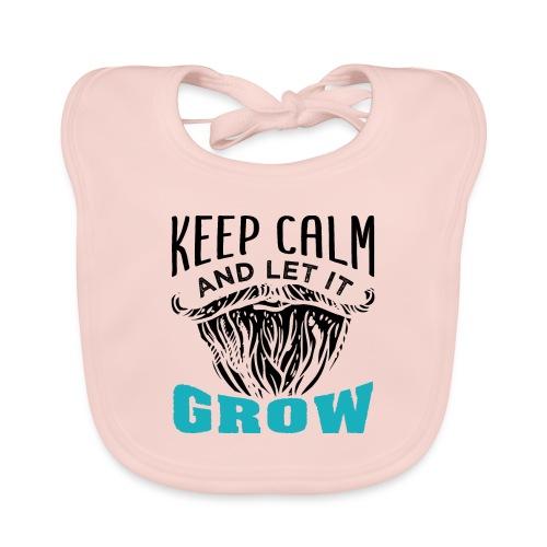 Beard Keep Calm And Let It Grow - Baby Bio-Lätzchen