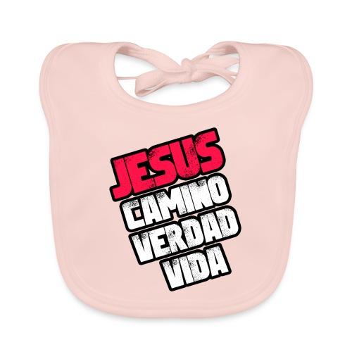 Jesus Camino Verdad Vida - Juan 14:6 - Rojo - Babero ecológico bebé