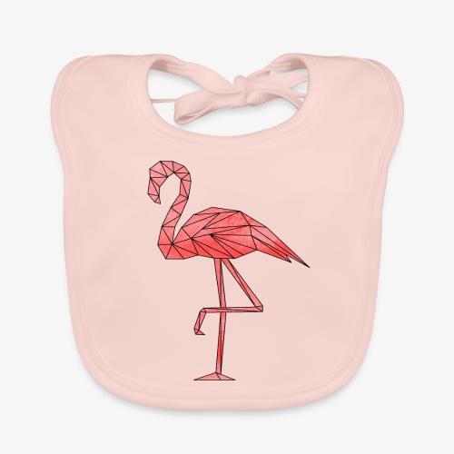 Flamingo Geometrisch - Baby Bio-Lätzchen