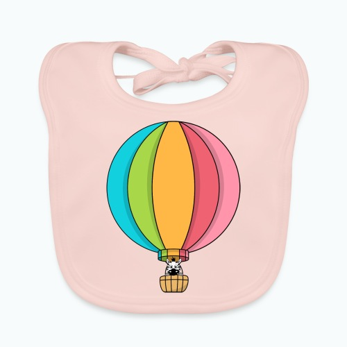 Zebra Zach Air Balloon - Ekologisk babyhaklapp