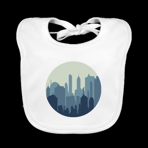 Stadt   Skyline Wolkenkratzer Hochhaus - Baby Bio-Lätzchen