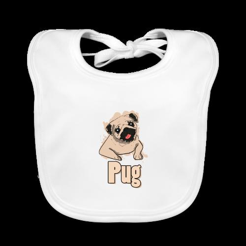 Mops   süß Hund Welpe - Baby Bio-Lätzchen