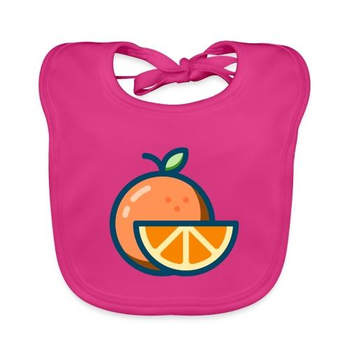 orange - Baby Organic Bib