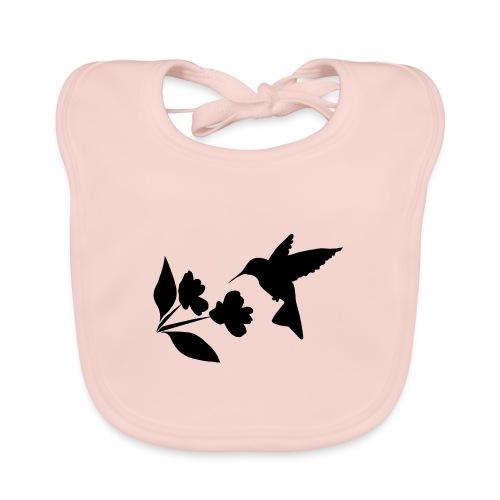 kolibrie met bloem - Bio-slabbetje voor baby's