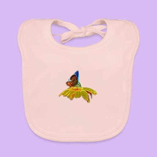 Farfalla su corolla - Bavaglino ecologico per neonato