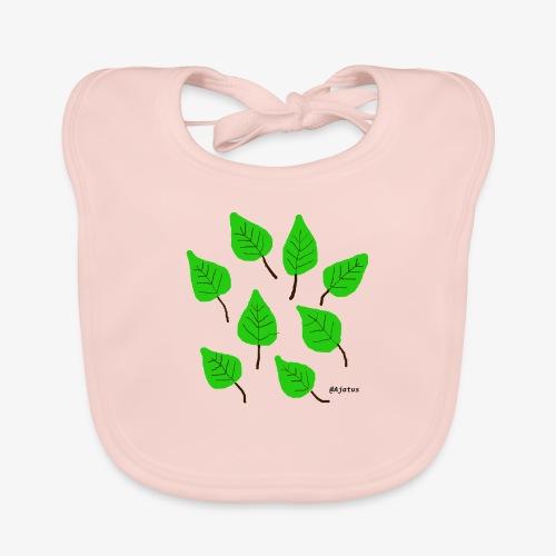 Lehdet - Vauvan luomuruokalappu