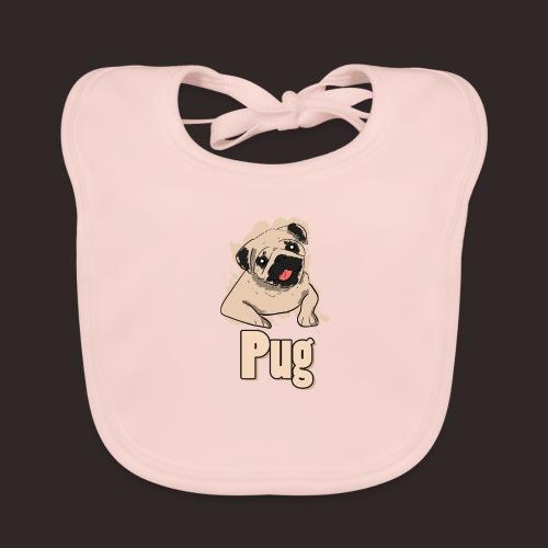 Mops | süß Hund Welpe - Baby Bio-Lätzchen